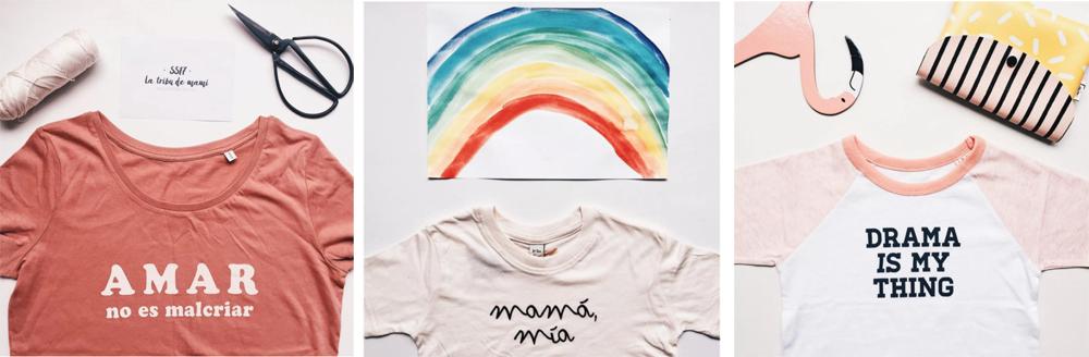 camisetas con mensajes de la tribu de mami